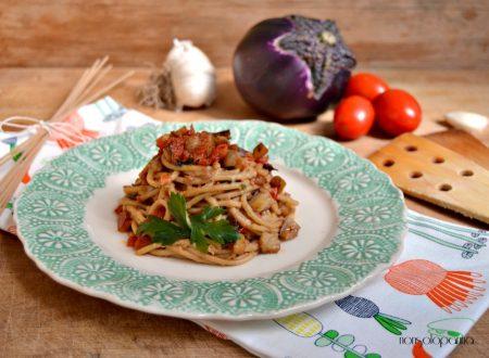 Spaghetti con melanzane e bottarga