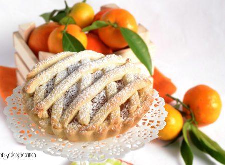 Crostata con crema di clementine e cannella