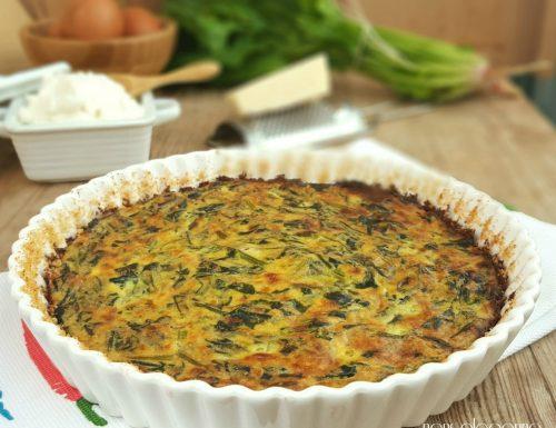 Frittata al forno di spinaci e ricotta