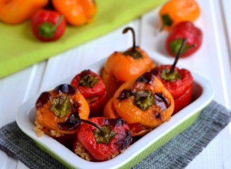 Mini peperoni ripieni di quinoa e tonno
