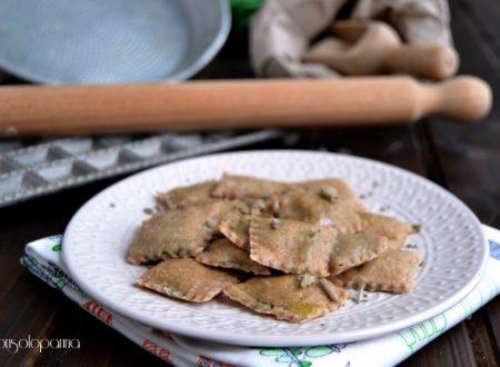 Ravioli di Timilia con  ripieno  di spinaci e ricotta