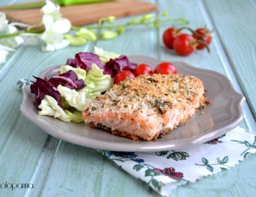 Trancio di salmone gratinato  al forno