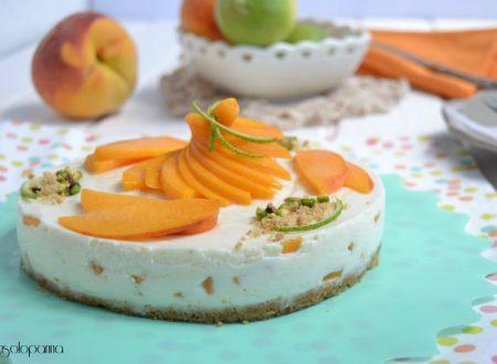 Cheesecake ricotta e pesche