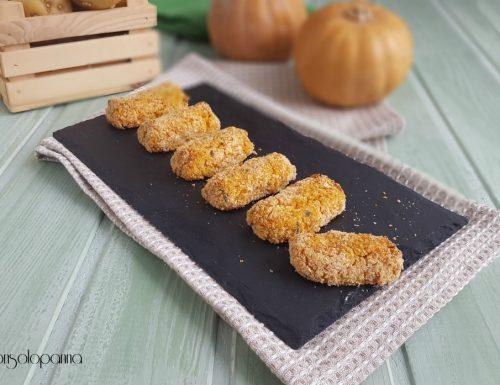 Crocchette di zucca e patate al forno
