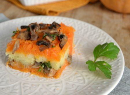 Sformato di zucca patate e funghi