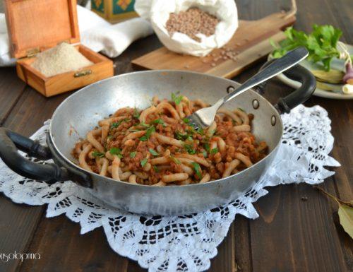 Bucatini di Timilia al ragù di lenticchie