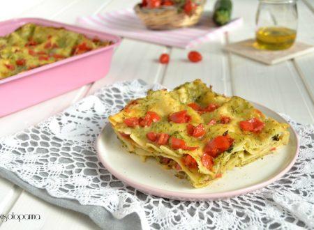Lasagne vegetariane con zucchine e pomodorini  datterini