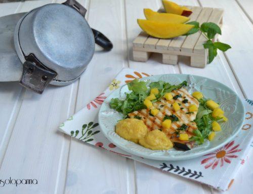 Pesce spada grigliato con salsa al mango