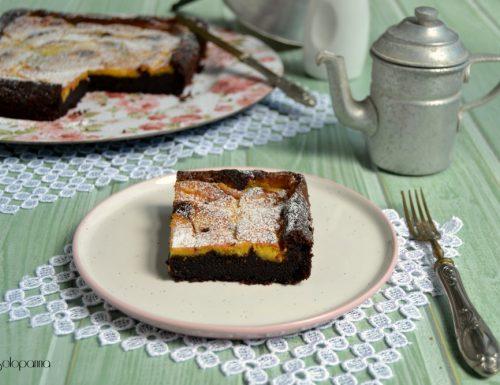 Torta  morbida al cioccolato con crema pasticcera