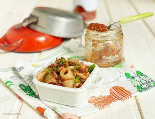 Calamari in padella con patè alla siciliana