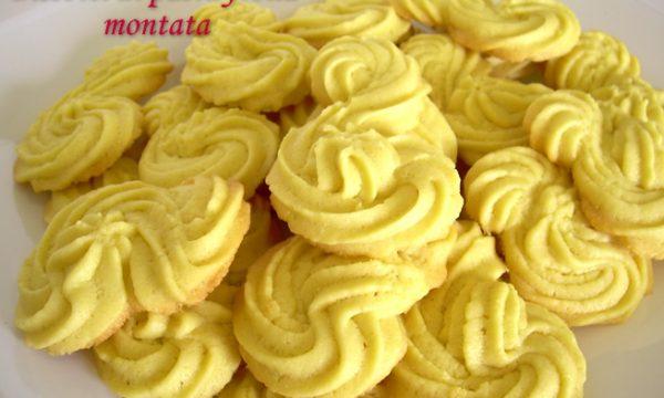 Biscotti di pasta frolla montata, ricetta dolce