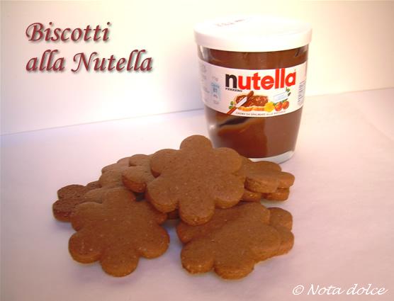 Biscotti alla nutella ricetta golosa
