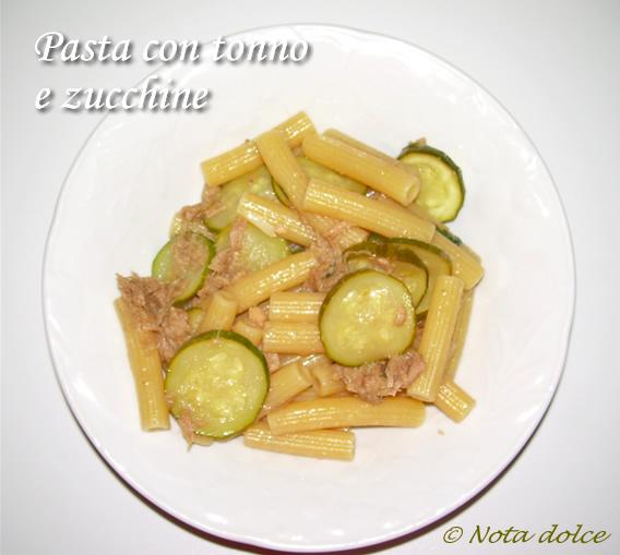 pasta con tonno e zucchine ricetta veloce