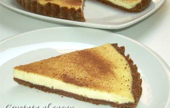 Crostata al cacao con crema al formaggio, ricetta dolce