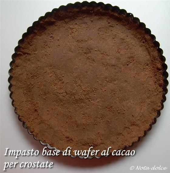 Impasto base di wafer al cacao, ricetta base