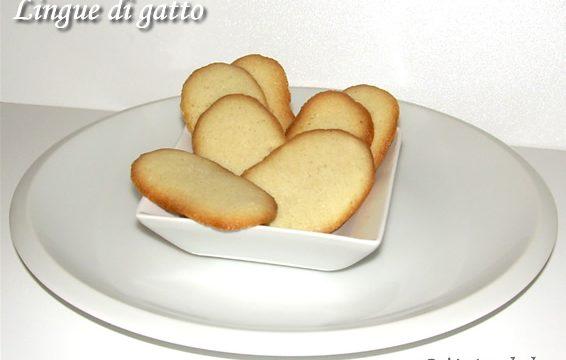 Lingue di gatto ricetta dolce