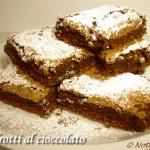 Quadrotti al cioccolato ricetta golosa