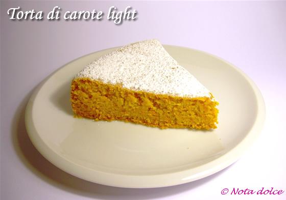 Ricetta per torta di carote light