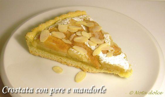 Crostata con pere e mandorle ricetta dolce goloso