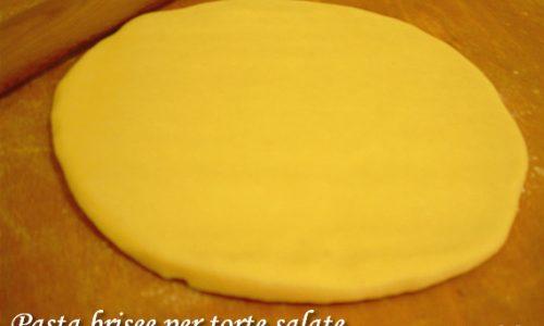 Pasta brisee per torte salate ricetta base
