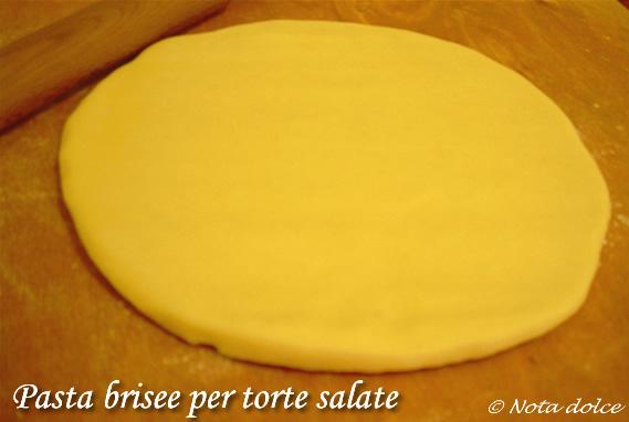Pasta brisee per torte salate, ricetta base