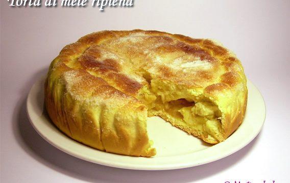 Torta di mele ripiena ricetta lievitato goloso