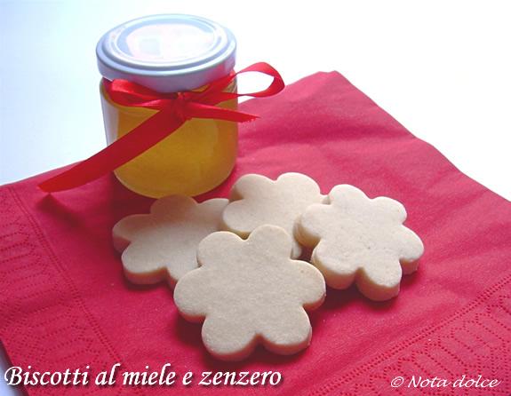 Biscotti al miele e zenzero ricetta dolce