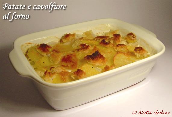 Patate e cavolfiore al forno ricetta contorno gustoso