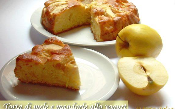 Torta di mele e mandorle allo yogurt ricetta senza burro