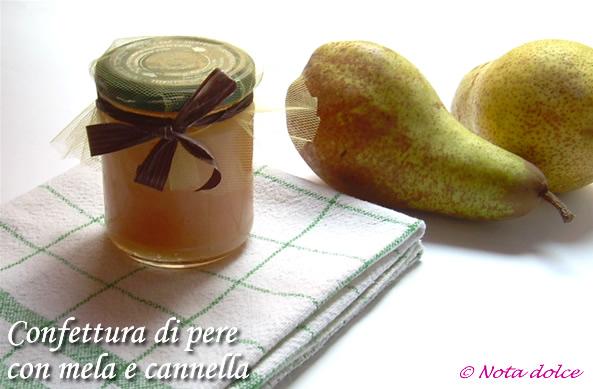 Confettura di pere con mele e cannella, ricetta facile