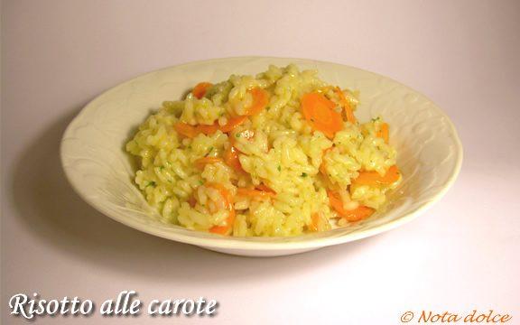 Risotto alle carote ricetta economica