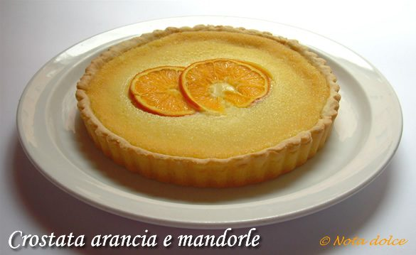 Crostata arancia e mandorle, ricetta dolce