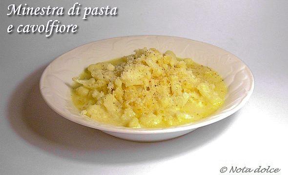 Minestra di pasta e cavolfiore ricetta facile e gustosa