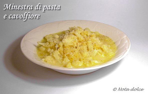Minestra di pasta e cavolfiore ricetta ricetta facile e gustosa