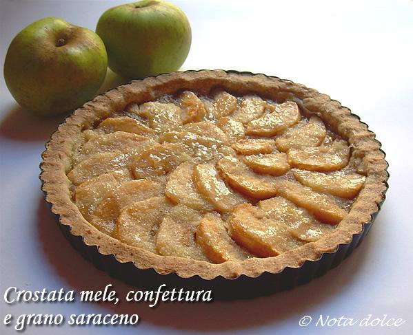 Crostata mele confettura e grano saraceno
