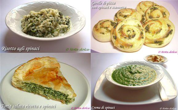 Ricette con spinaci, idee in tavola