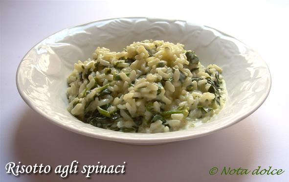 Risotto agli spinaci, ricetta primi piatti