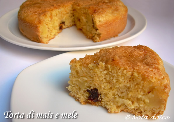 Torta di mais e mele, ricetta dolce senza burro