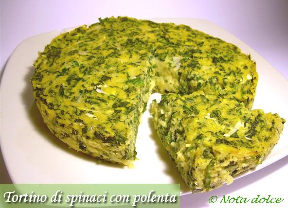 Tortino di spinaci e polenta ricetta gustosa