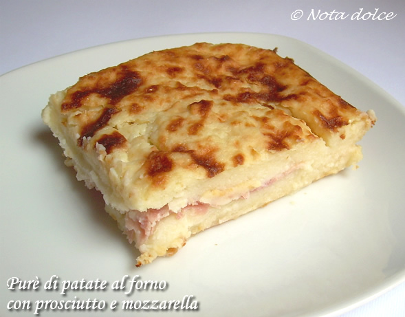 Purè di patate al forno con prosciutto e mozzarella ricetta gustosa