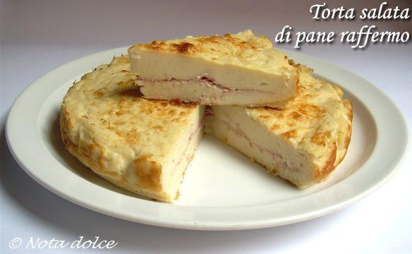 Torta salata di pane raffermo ricetta del riciclo