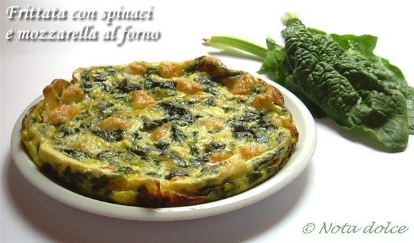 Frittata con spinaci e mozzarella al forno ricetta gustosa