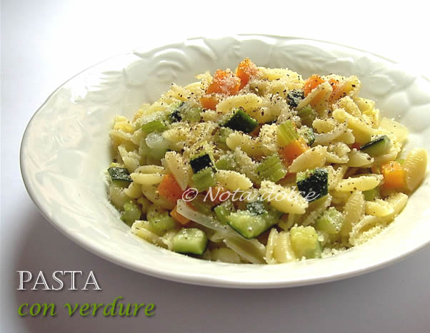 Pasta con verdure, ricetta