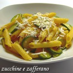 Penne con zucchine e zafferano ricetta veloce