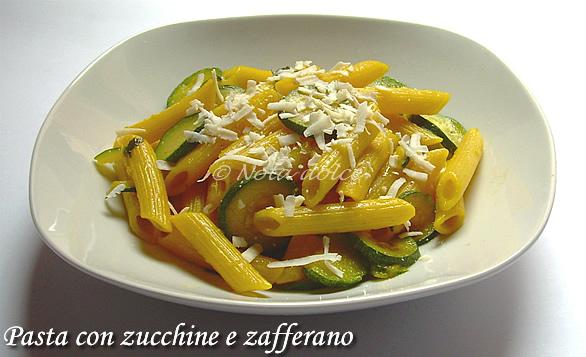 Ricetta Pasta Zucchine E Zafferano.Penne Con Zucchine E Zafferano Ricetta Veloce E Facile Nota Dolce