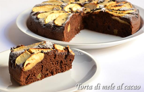 Torta di mele al cacao, ricetta dolce senza burro
