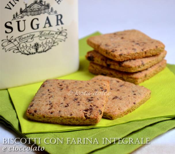 Ricette biscotti con farina integrale bimby