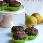 Muffin al cioccolato e pere, ricetta senza burro