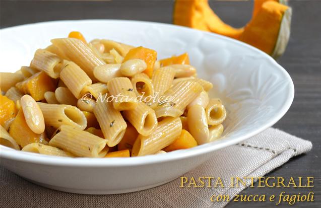 Ricette con pasta integrale e zucca