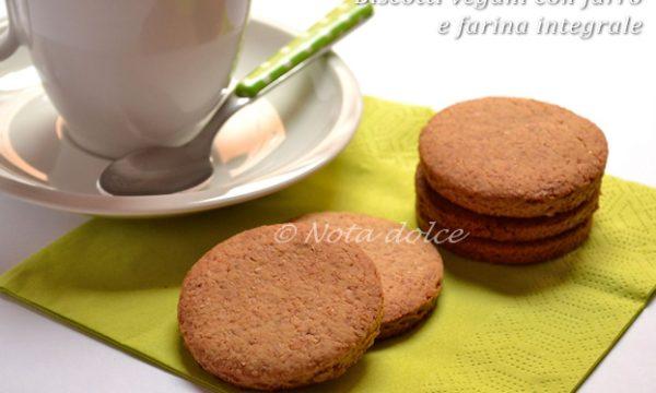 Biscotti vegani con farro e farina integrale ricetta dolce facile
